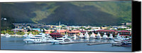 Yachts Digital Art Canvas Prints - St. Thomas US Virgin Islands Canvas Print by Shelley Neff