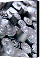 Charge Canvas Prints - Stack Of Batteries Canvas Print by Carlos Caetano