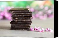 Block Canvas Prints - Stack of Chocolate Canvas Print by Nailia Schwarz