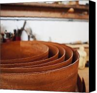 Wooden Bowls Canvas Prints - Stack of Wooden Bowls Canvas Print by Jetta Productions, Inc
