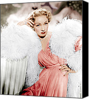 1950s Movies Canvas Prints - Stage Fright, Marlene Dietrich Wearing Canvas Print by Everett