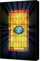 Potography Canvas Prints - Stain Glass Canvas Print by Perry Webster