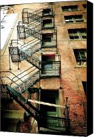 Fire Escape Photo Canvas Prints - Stairs Canvas Print by Dale Firth