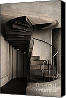 Santa Fe Canvas Prints - Stairs Canvas Print by Elena Nosyreva