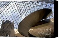 Capital City Canvas Prints - Stairs in Louvre Museum. Paris.  Canvas Print by Bernard Jaubert