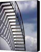 Curves Canvas Prints - Stairs in the Sky Canvas Print by David April