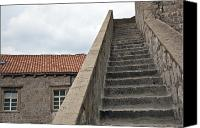 Dubrovnik Canvas Prints - Stairway in Dubrovnik Canvas Print by Madeline Ellis