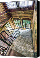 Castle Pyrography Canvas Prints - Stairways Canvas Print by Andreas Jancso