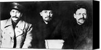 1919 Canvas Prints - Stalin, Lenin & Trotsky Canvas Print by Granger