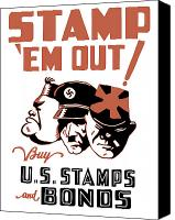 Adolf Canvas Prints - Stamp Em Out  Canvas Print by War Is Hell Store