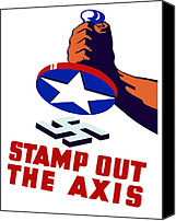 War Effort Canvas Prints - Stamp Out The Axis Canvas Print by War Is Hell Store