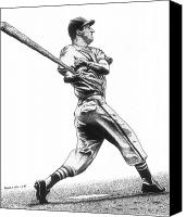 Ballpark Drawings Canvas Prints - Stan the Man Canvas Print by Bruce Kay