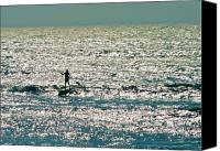 Sup Canvas Prints - Stand Up Paddle Surfer Canvas Print by Lance Flake