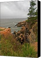 Shores Of Acadia Canvas Prints - Standing on the Edge Canvas Print by Paul Mangold