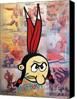 Sports Art Painting Canvas Prints - Stanford Indian Canvas Print by Ryan Jones