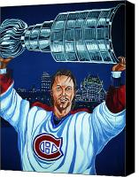 Sports Canvas Prints - Stanley Cup - Champion Canvas Print by Juergen Weiss