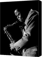 Urban Scenes Canvas Prints - Stanley Turrentine 1980 Miami Jazz Festival Canvas Print by Arni Katz