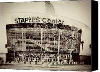 Los Angeles Lakers Canvas Prints - Staples Center Canvas Print by Ariane Moshayedi