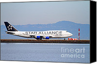 Airways Canvas Prints - Star Alliance Airlines Jet Airplane At San Francisco International Airport SFO . 7D12199 Canvas Print by Wingsdomain Art and Photography