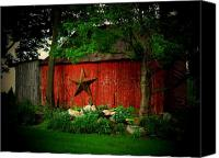 Star Barn Canvas Prints - Star Barn Canvas Print by Michael L Kimble