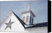 Star Barn Canvas Prints - Star Barn Roof Canvas Print by Craig Leaper