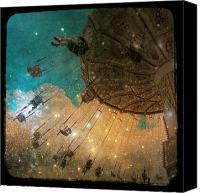 Surrealism  Canvas Prints - Star Bright Canvas Print by Gothicolors With Crows