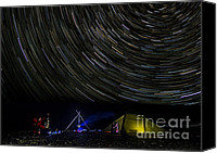 Startrail Canvas Prints - Star-gasers  Under the heavens Canvas Print by Wayne Shakell