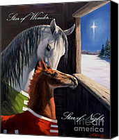 Christmas Painting Canvas Prints - Star of Wonder Canvas Print by Jeanne Newton Schoborg