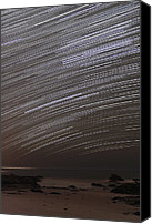 Startrail Canvas Prints - Star Trails Canvas Print by Laurent Laveder