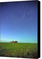 Star Barn Canvas Prints - Star Trails Over Old Barns, Saskatchewan Canvas Print by Robert Postma