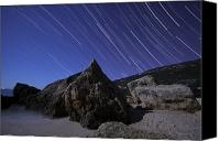 Capella Canvas Prints - Star Trails Over Portugal Canvas Print by Miguel Claro