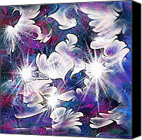 Fantasy Canvas Prints - Stardust Canvas Print by Rachel Christine Nowicki