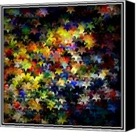 Abstract Stars Digital Art Canvas Prints - Starlight Canvas Print by Susan  Epps Oliver