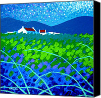 Atmospheric Painting Canvas Prints - Starry Night In Wicklow Canvas Print by John  Nolan