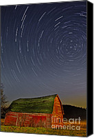 Star Barn Canvas Prints - Starry Night Canvas Print by Susan Candelario