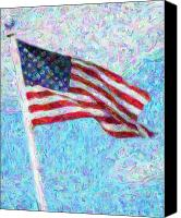 American Flag Canvas Prints - Stars and Stripes Canvas Print by Colleen Kammerer