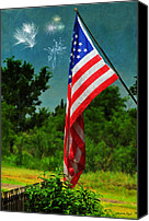 4th July Canvas Prints - Stars and Stripes Forever Canvas Print by Karen Slagle