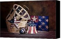 4th Canvas Prints - Stars and Stripes Still Life Canvas Print by Tom Mc Nemar