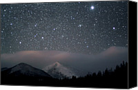 Star Photo Canvas Prints - Stars Over Rocky Mountain National Park Canvas Print by Pat Gaines
