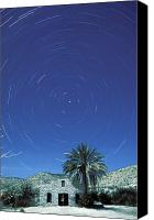 Big Bend Canvas Prints - Startrails Around The Polaris North Canvas Print by Rich Reid