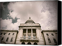 Statehouse Canvas Prints - State House Canvas Print by Lourry Legarde