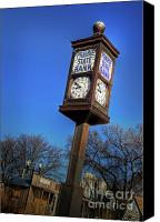 Chimes Canvas Prints - State Street Clock Canvas Print by Fred Lassmann