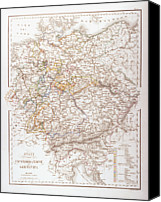 Antique Map Digital Art Canvas Prints - States Of The German Confederation Canvas Print by Fototeca Storica Nazionale