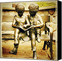 Children Photo Canvas Prints - #statue #bronze #park #children Canvas Print by Bryan P