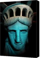Copper Harbor Canvas Prints - Statue of Liberty -  Liberty Enlightening the World - USA - America Canvas Print by Lee Dos Santos