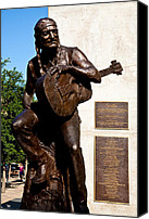 Willie Canvas Prints - Statue Of Willie Nelson Canvas Print by Mark Weaver