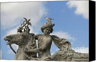 Ile De France Canvas Prints - Statue . Place de la Concorde. Paris. France Canvas Print by Bernard Jaubert