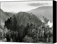 Away Canvas Prints - Stawamus Chief, Squamish, British Columbia, Canada, Tilt-shift Canvas Print by Brian Caissie