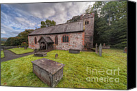 Graveyard Canvas Prints - St.Dyfnogs Church Canvas Print by Adrian Evans