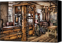 Cyber Canvas Prints - Steam Punk - The Press Canvas Print by Mike Savad